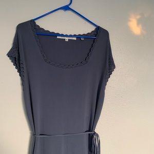 Max Studio | dress | blue rayon | short sleeve